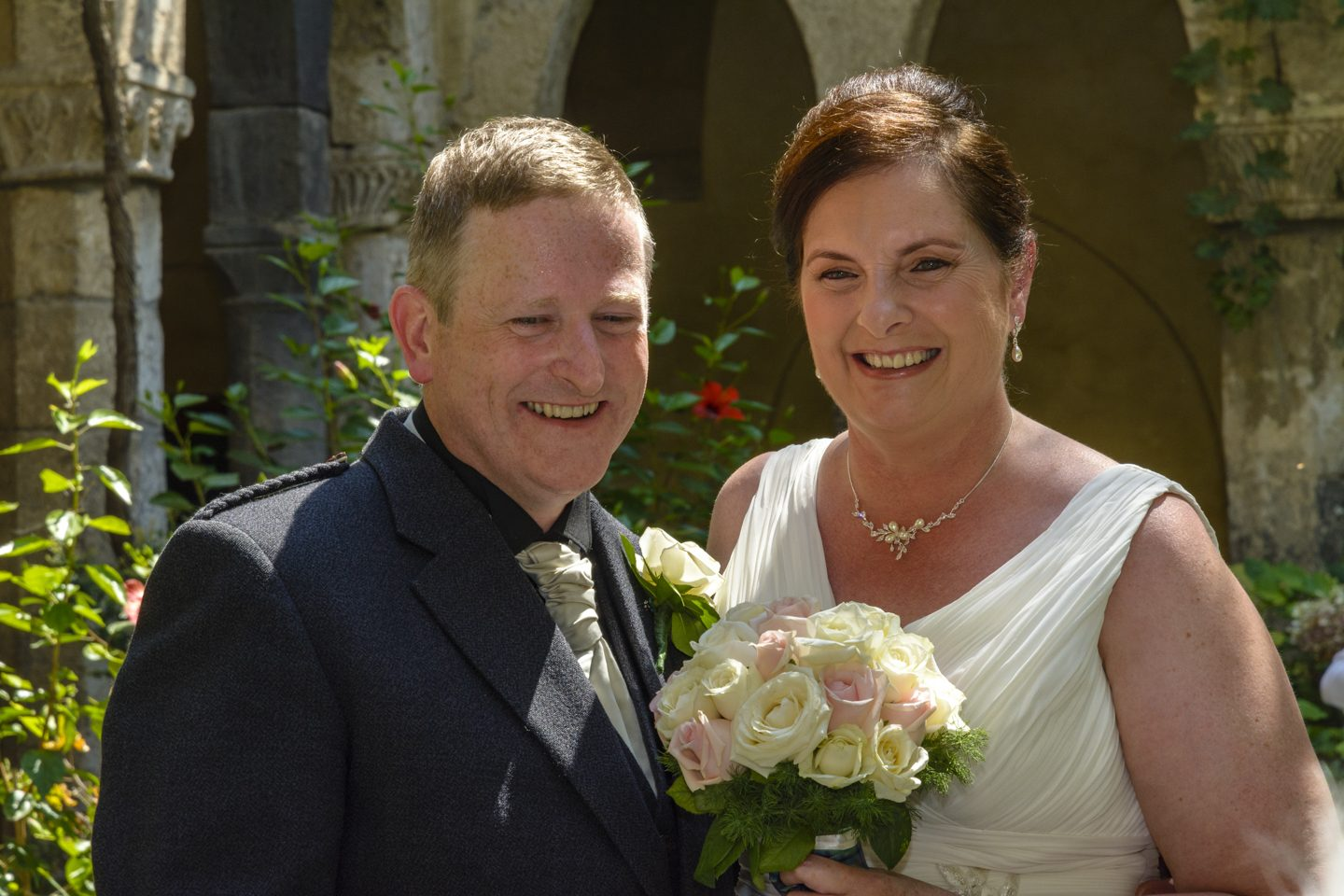 Russell & Linda_Wedding_Sorrento_Scotland_Together_Sun_Smile