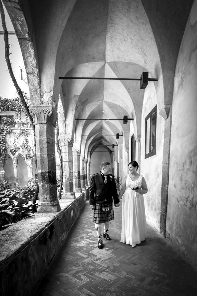 Russell & Linda_Wedding_Sorrento_Scotland_Together_BW