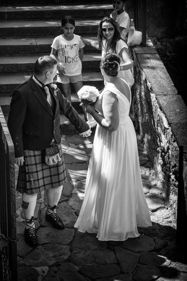 Russell & Linda_Wedding_Sorrento_Scotland_BW